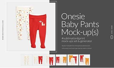 Onesie Baby Pants Mockup Template Generator
