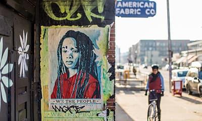 Urban Wall Poster Mockup Free PSD